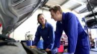 Trainee Mechanic in Workshop video
