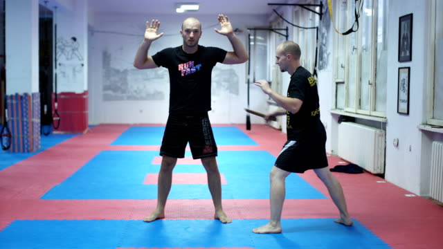Training class about self-defence video