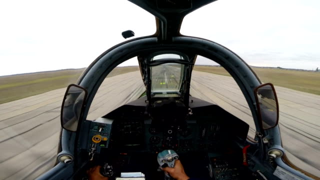 Training flight attack aircraft SU-25. Filming from the cockpit. video