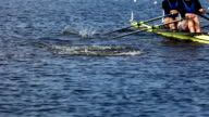training of athletes in rowing video