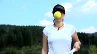 Training stability with bouncing tennis ball video