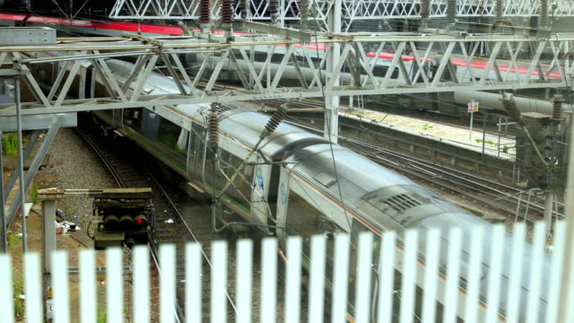 Trains at New Street station in Birmingham, England. video