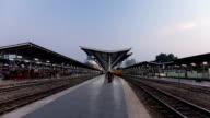 Trains station. video