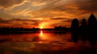 Trakai castle and sunset, Lithuania video