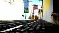 Tram Lisbon, Tile Shift, Time Lapse, Portugal video