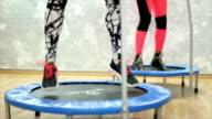 Trampoline squats video