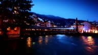 tranquil night in Switzerland video