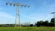 Transformer Station and Electric pylons video