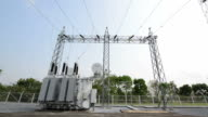 Transformer station and the high voltage electric pole video