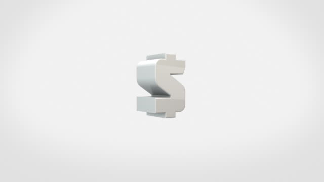Transforming 3D Symbols Animation - Dollar Signs (With Luma/Alpha) video
