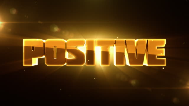 Transforming 3D Words Animations with Lighting - NEGATIVE to POSITIVE video