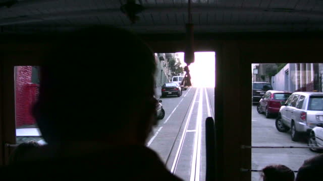 (HD1080i) Transit Rush Hour: Cable Car Front View, Bumpy, Speedy video
