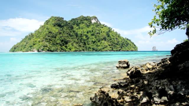Transparent Sea At Island video