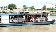 Transportation boat with passenger video