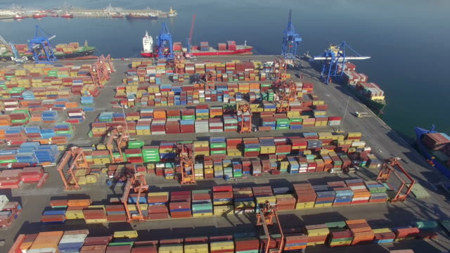 Transportation Dock with Containers video