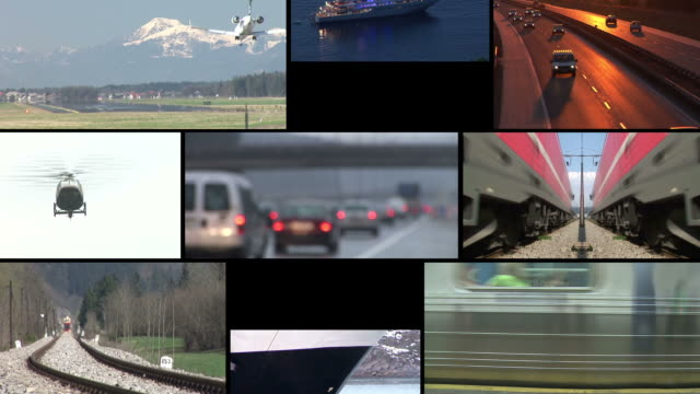 HD LOOP MONTAGE: Transportation video