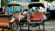 transportation with cyclo in indonesia video