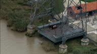Transporter Bridge - Aerial View - Aquitaine, Gironde, France video