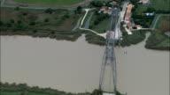Transporter Bridge  - Aerial View - Poitou-Charentes, Charente-Maritime, Arrondissement de Rochefort, France video