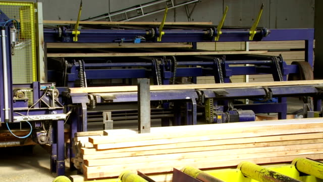 Transporting Planks on Lumbermill Production Line video