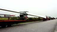 Transporting Wind turbines video
