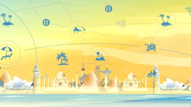 Travel And Tourism Landmark Background video