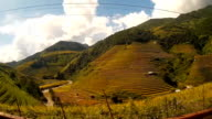travel and transportation concept of Terraced rice field in high season on september at Mu Cang Chai video