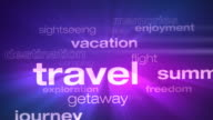 Travel and Vacation Words Loop video