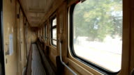 Travel by train - inside the railroad car video