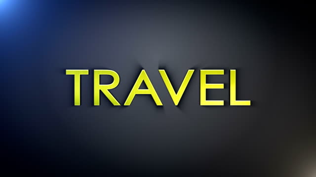 Travel Gold explosion text, Loop video