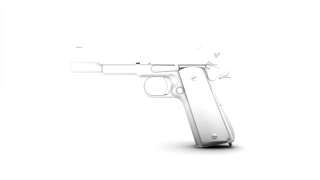 Travel through a single Handgun revealing many video