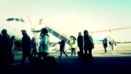 Traveler at Airport transportation video