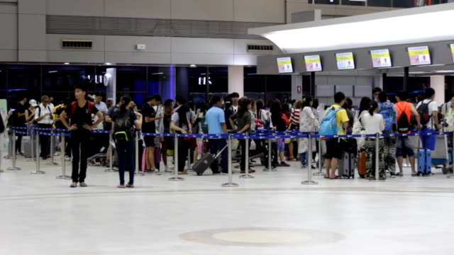 Traveler Crowd at Airport video