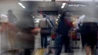 Traveler Crowd at Train Station video