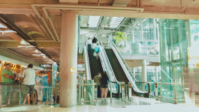 Traveler in Airport video