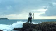 Traveler Is Looking Beyond The Horizon video