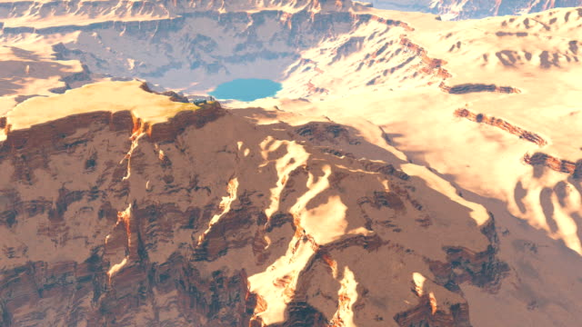 Travelers on the top of canyon mountain video