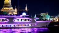 traveling river by yacht behind Wat Arun , Bangkok, Thailand video