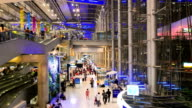 Traveller inside international airport video