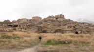 Traveller walking into Hasankeyf remains video
