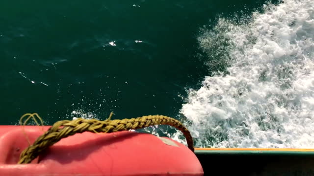 Travelling by boat slow motion video