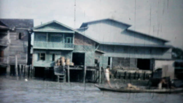 Travelling Down River In Bangkok-1958 Vintage 8mm film video