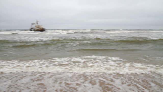PAN Trawler Wrecked At Namibian Coast video