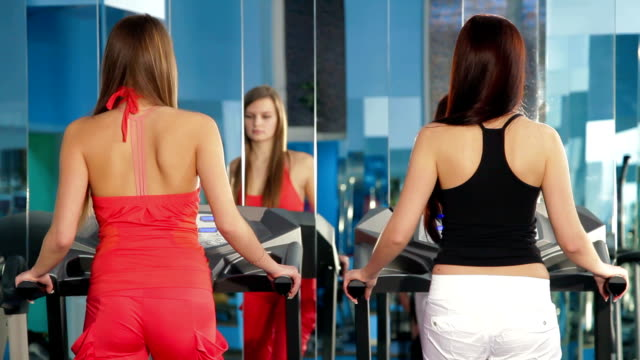 Treadmill Exercise At The Gym video