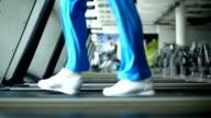 Treadmill exercise. video
