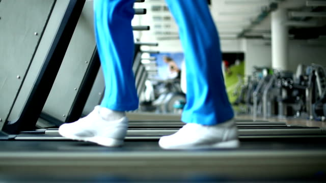 Treadmill exercise. video