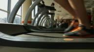 Treadmill in gym. video