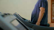 Treadmill workout in the gym video