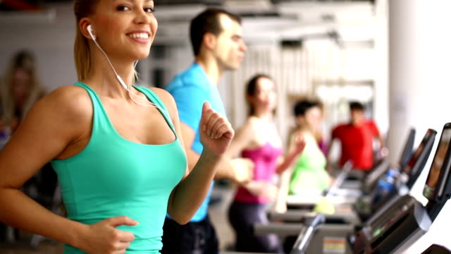 Treadmill workout. video