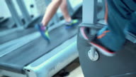 Treadmill workout. video